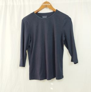 Christopher & Banks Layer Your Look Blue Shirt M